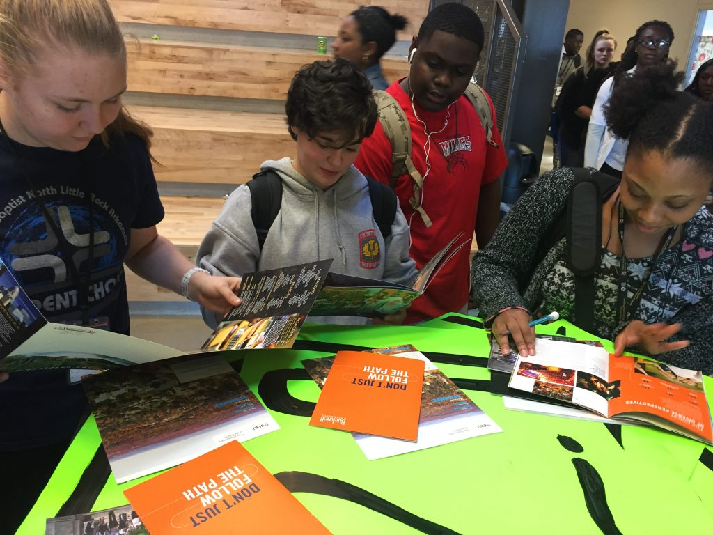 Exposing students to Arkansas Commitment Partner Colleges after workshops