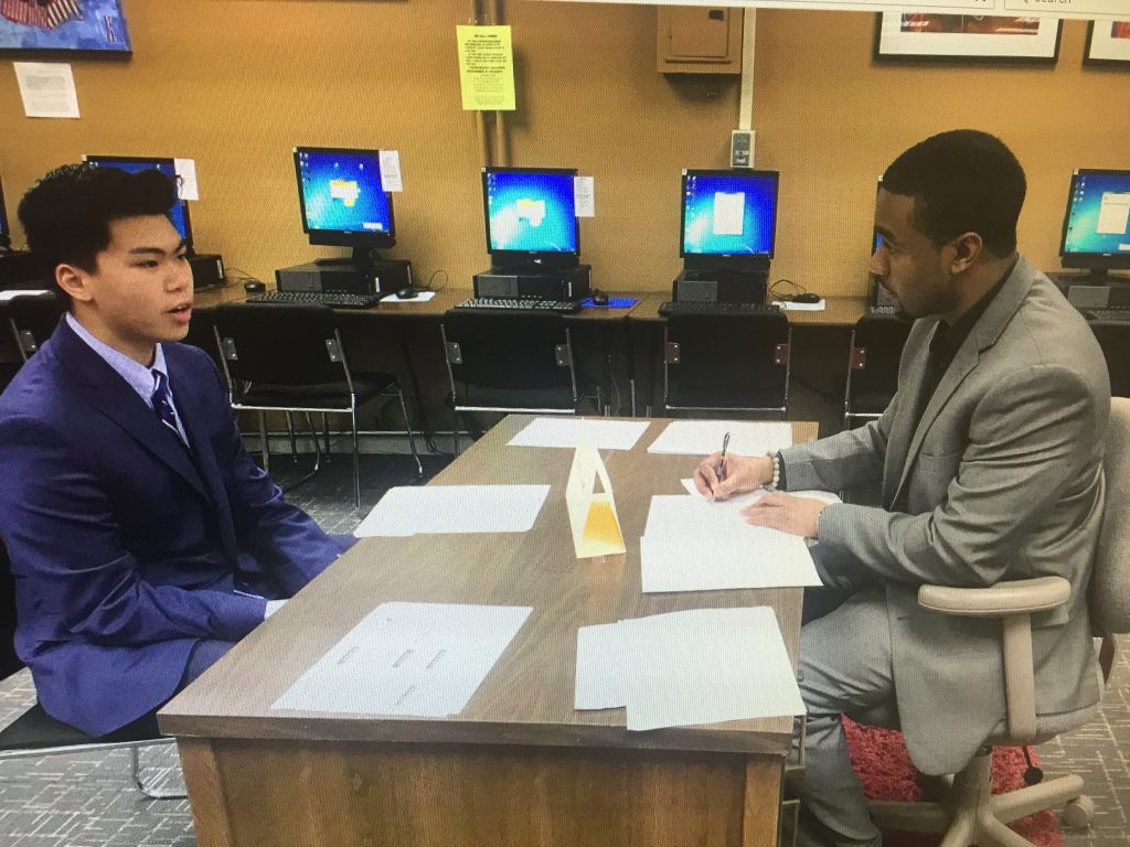 Little Rock Central: Assisting with Mock Interviews